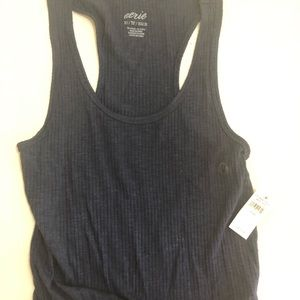 American Eagle Navy Cropped Tank